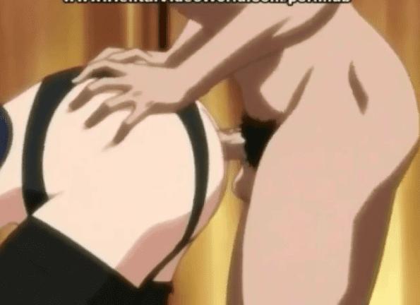 Hentai brunette drilled in ass