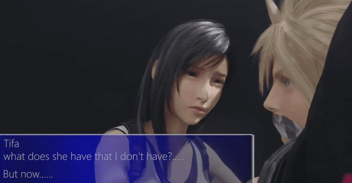 Tifa captures Cloud - Final Fantasy a